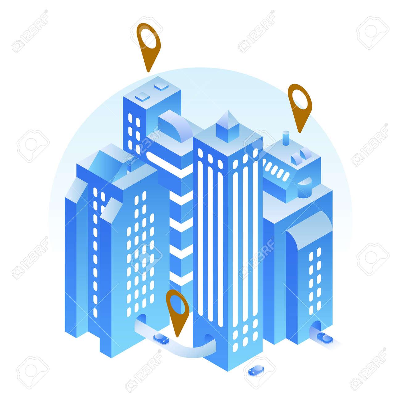 Isometric Modern City Location Illustration - 171310283