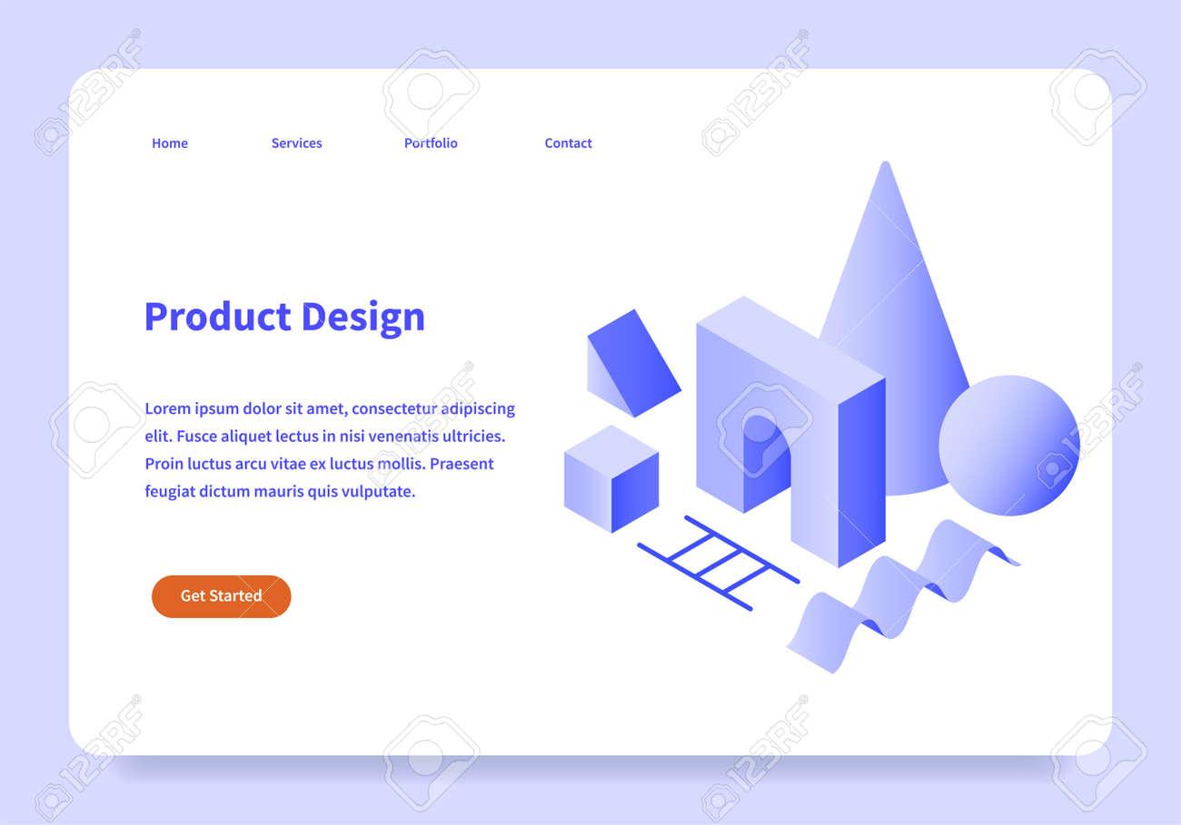 Product Design Landing Page Concept - 171366960