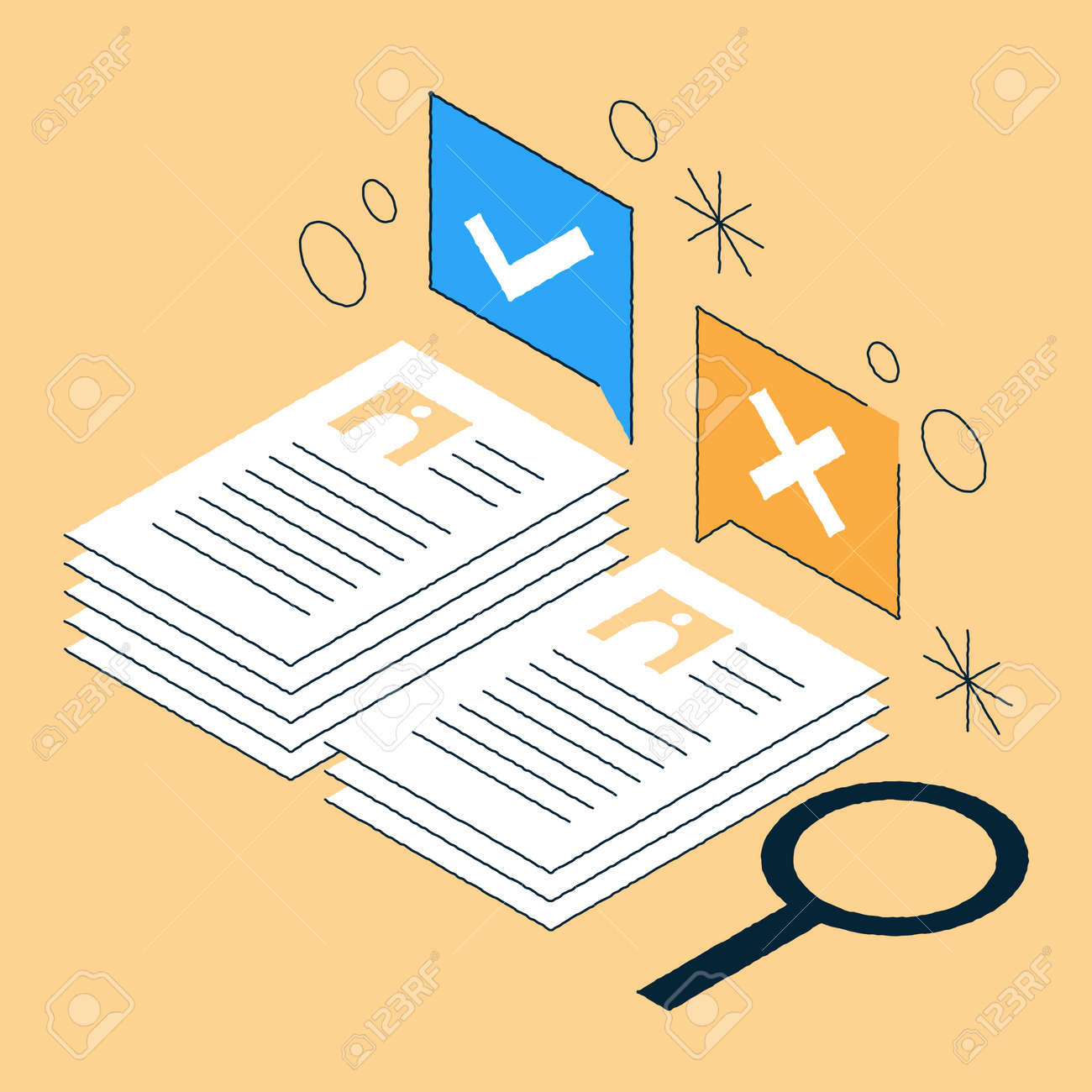 Job Recruiting Isometric Illustration - 171679943
