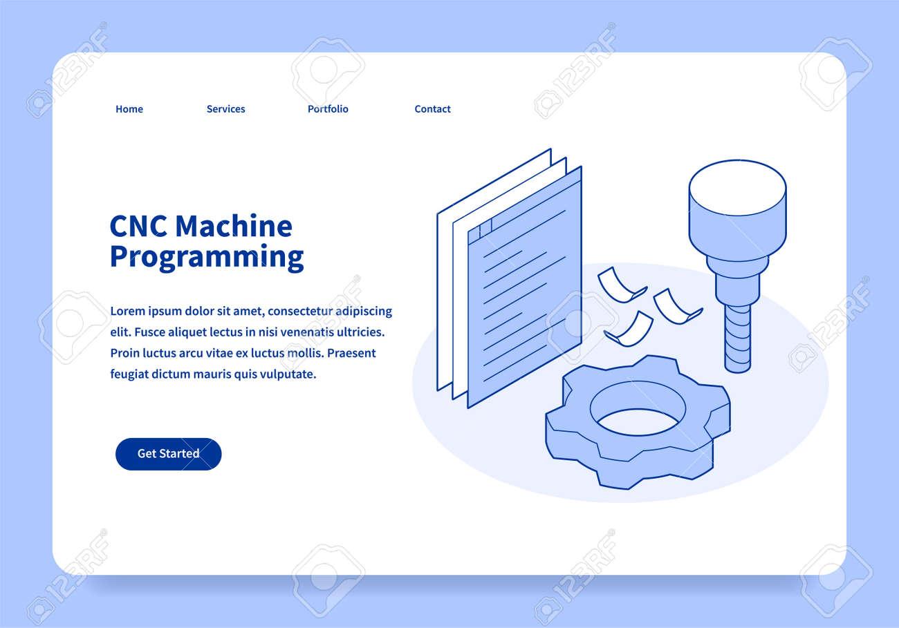 CNC Machine Programming Landing Page Concept - 171717000
