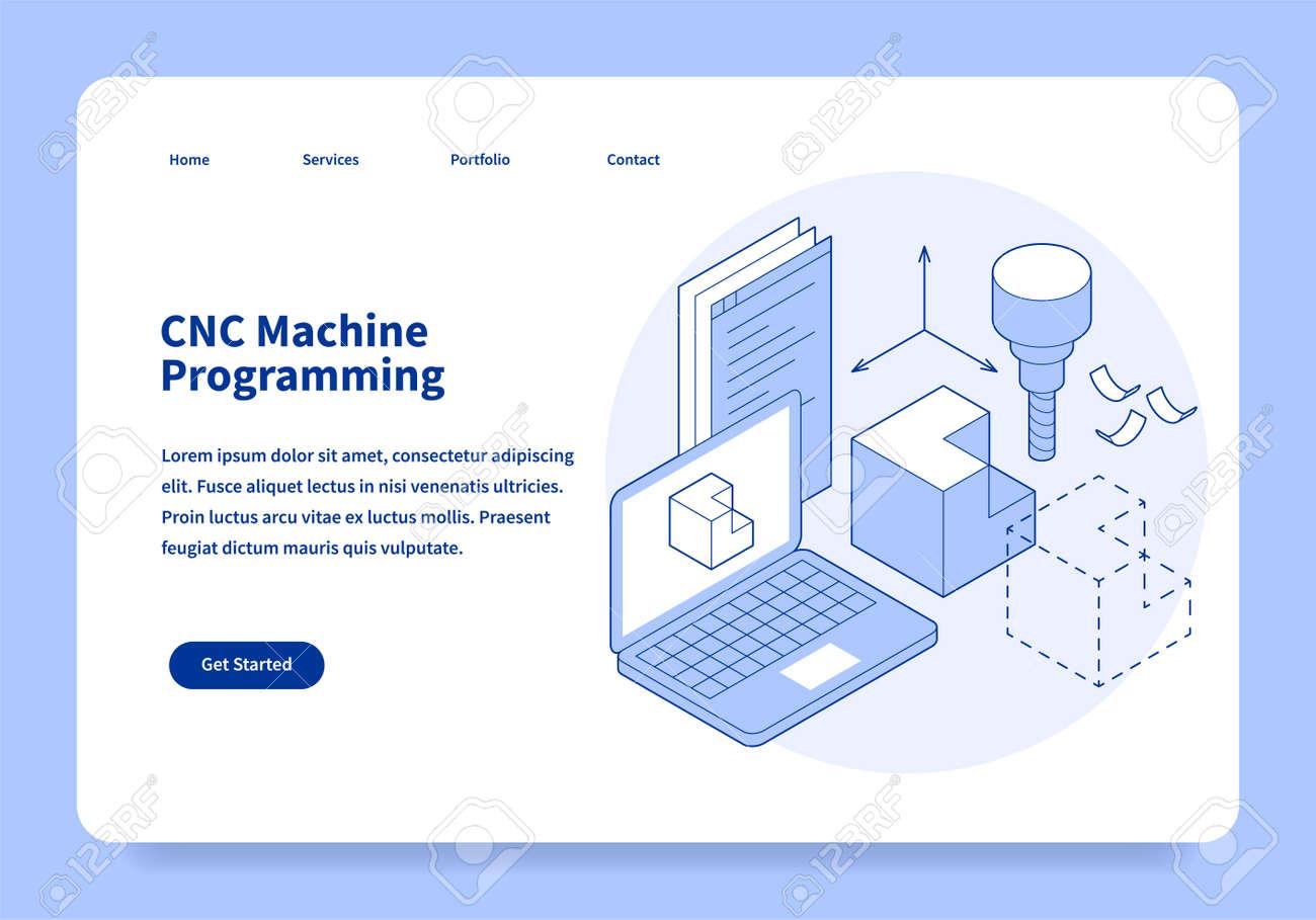 CNC Machine Programming Landing Page Concept - 171718946