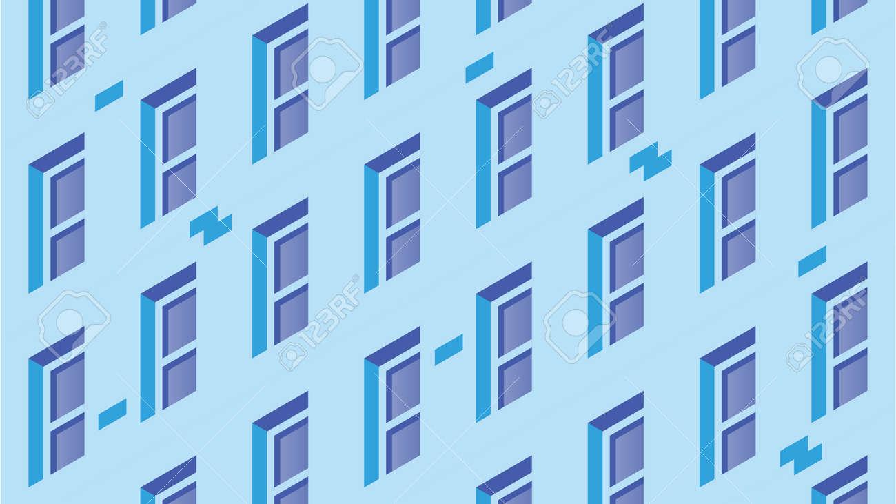 Isometric Building Facade Illustration - 172277798