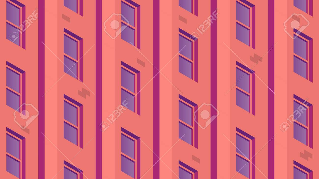Isometric Building Facade Illustration - 172278074