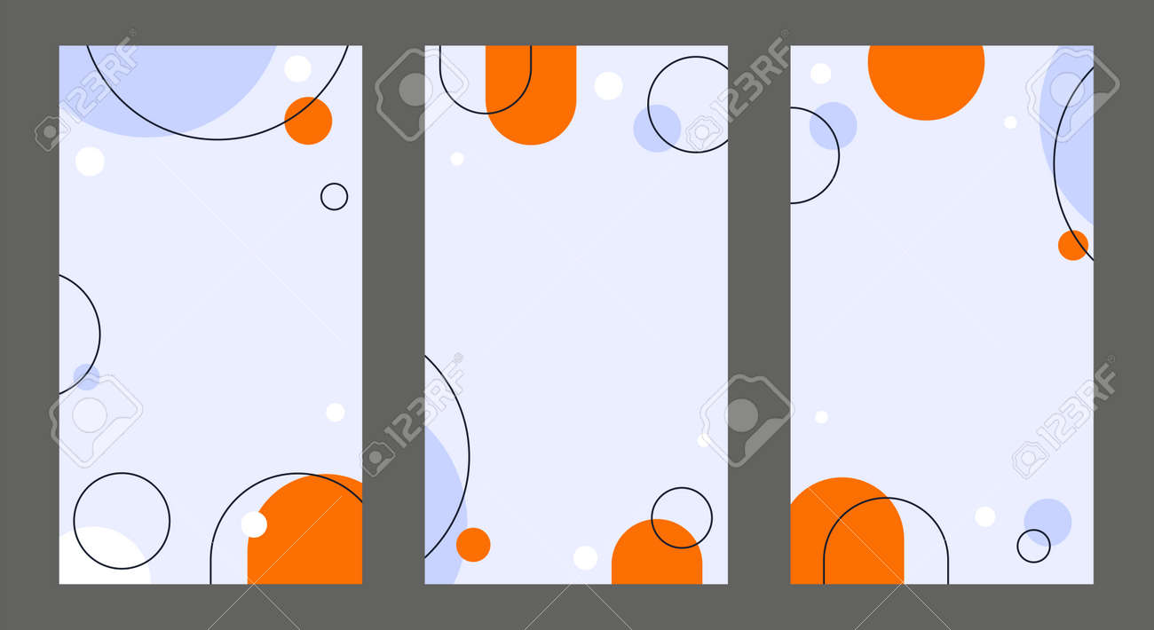 Abstract Geometric Social Media Backgrounds - 172536863