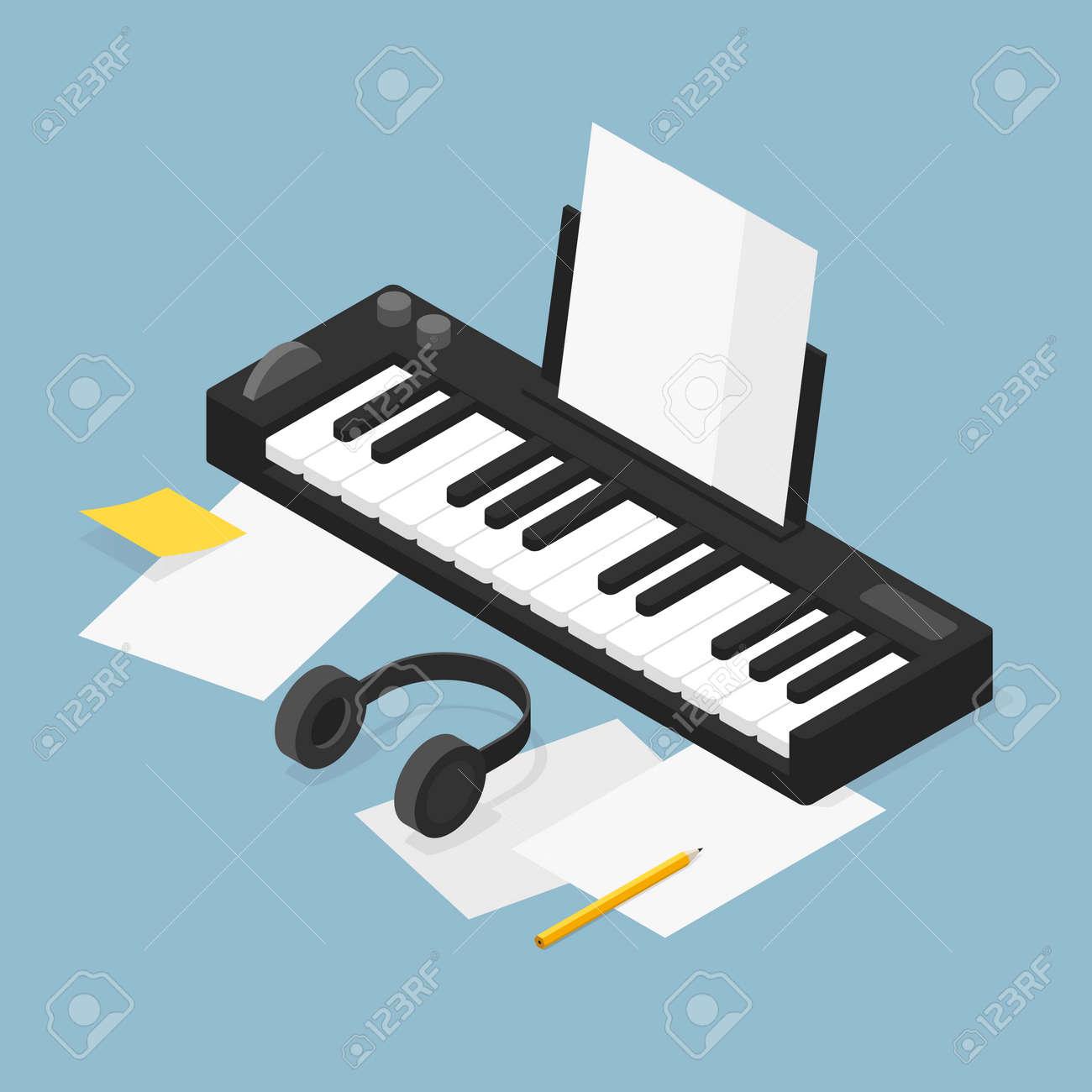 Music Production Isometric Illustration - 172536970