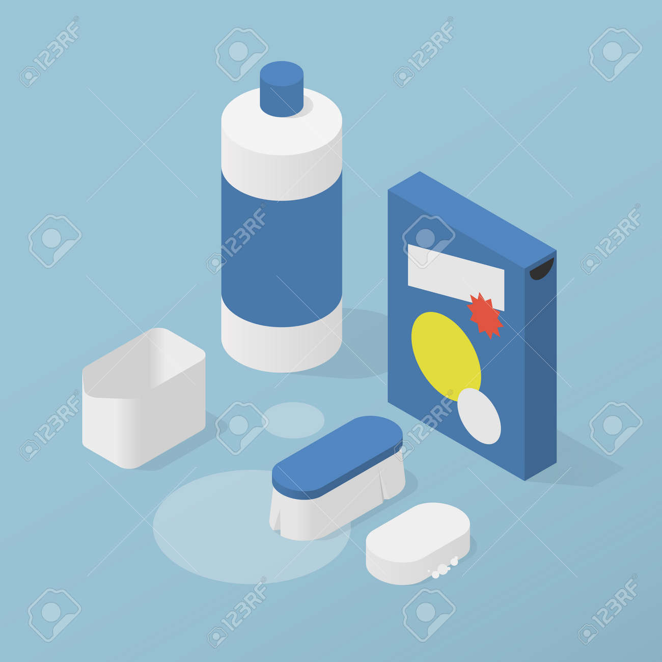 Household Chemicals Isometric Illustration - 172855428