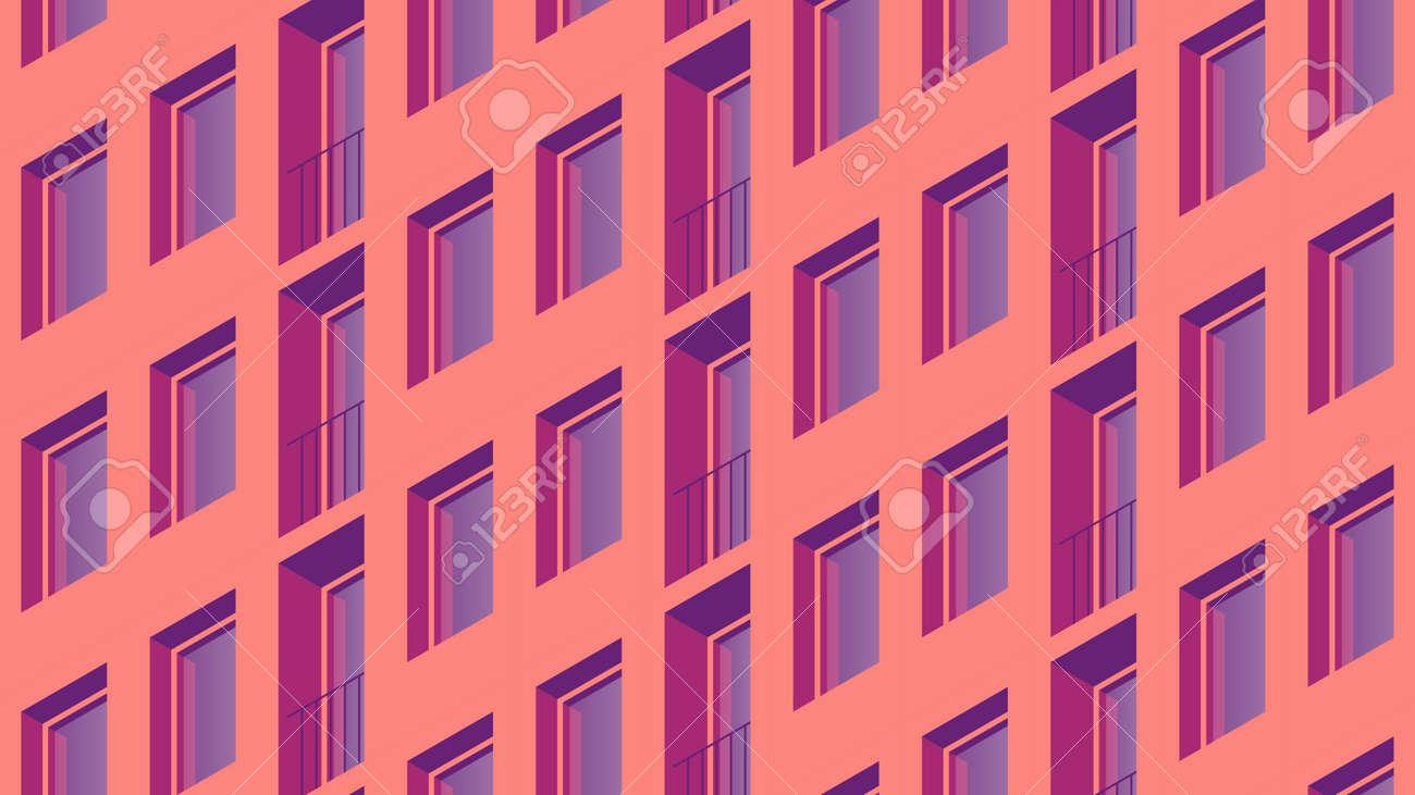 Isometric Building Facade Illustration - 172855809