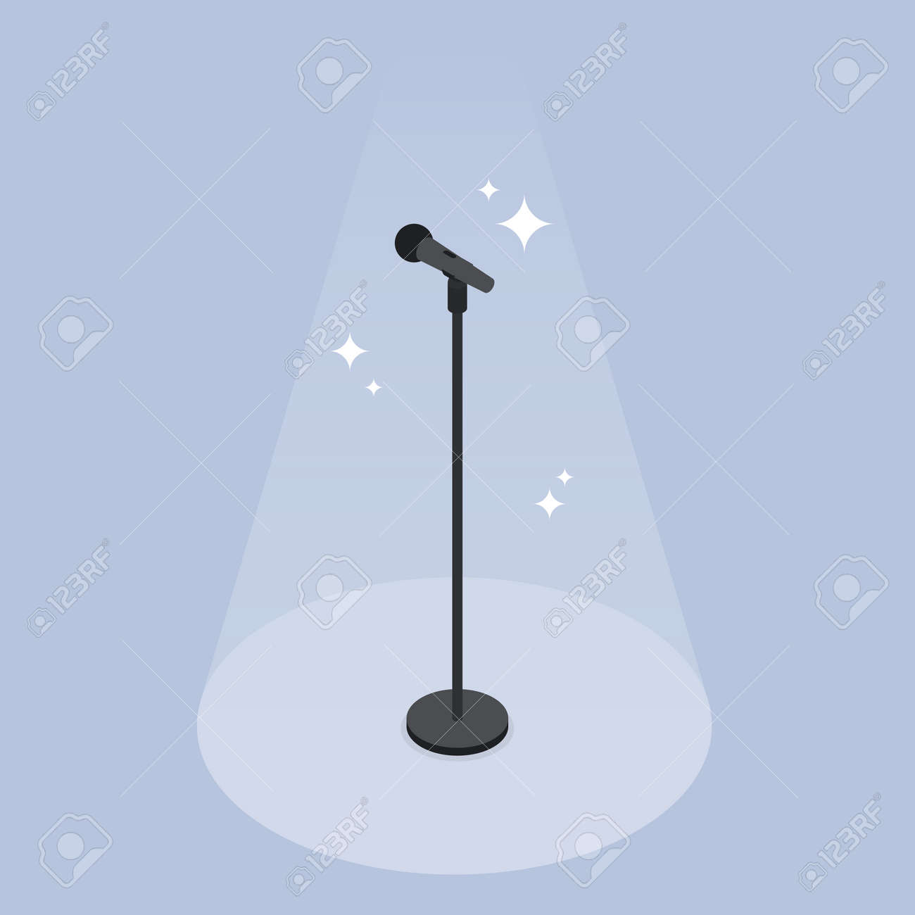 Performance Microphone Isometric Illustration - 173223702