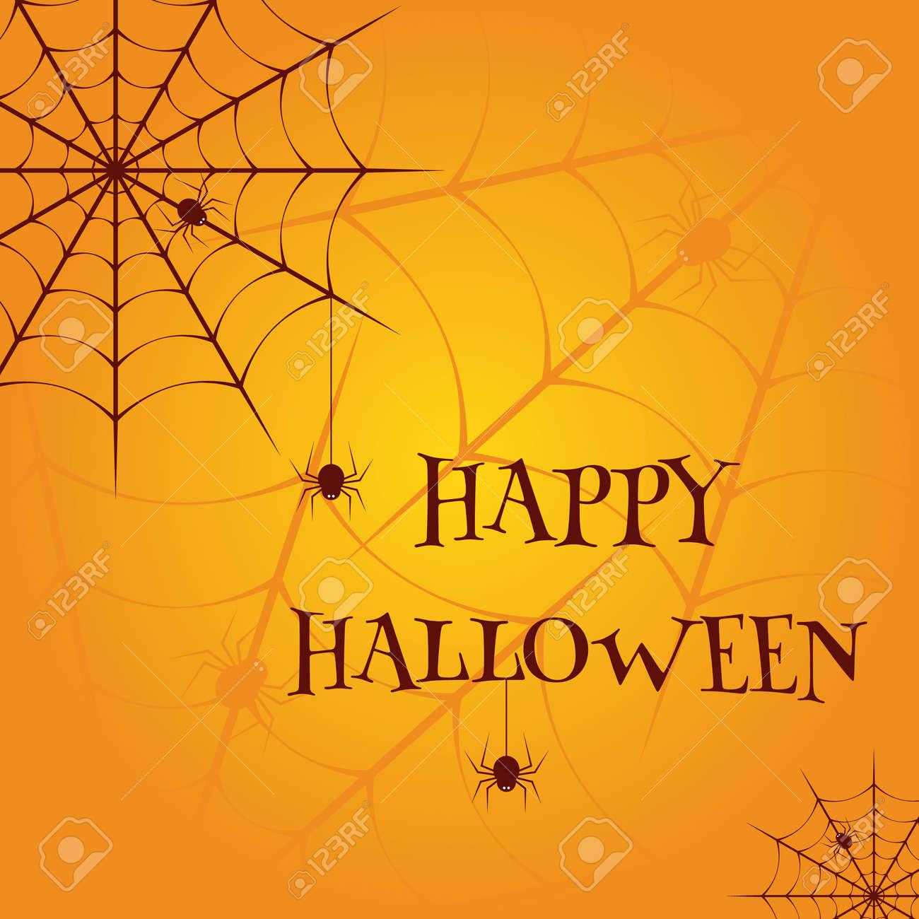 Happy Halloween Vector illustration template - 157378293