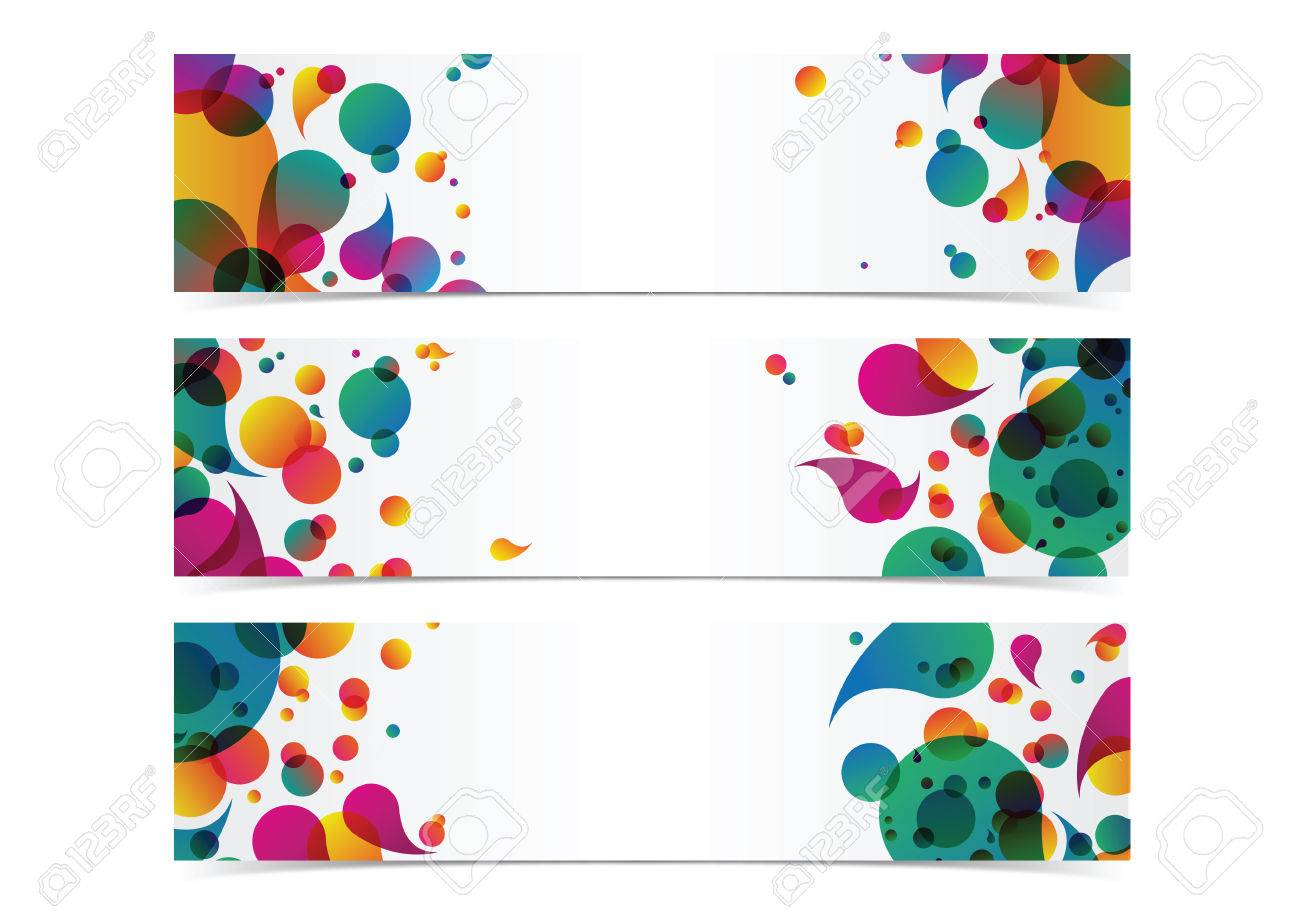 bstract colorful banner header background frame vector royalty free