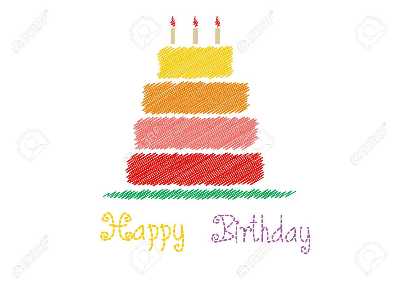 Happy birthday card with birthday cakevector illustrations stock happy birthday card with birthday cakevector illustrations stock illustration 47035056 bookmarktalkfo Image collections