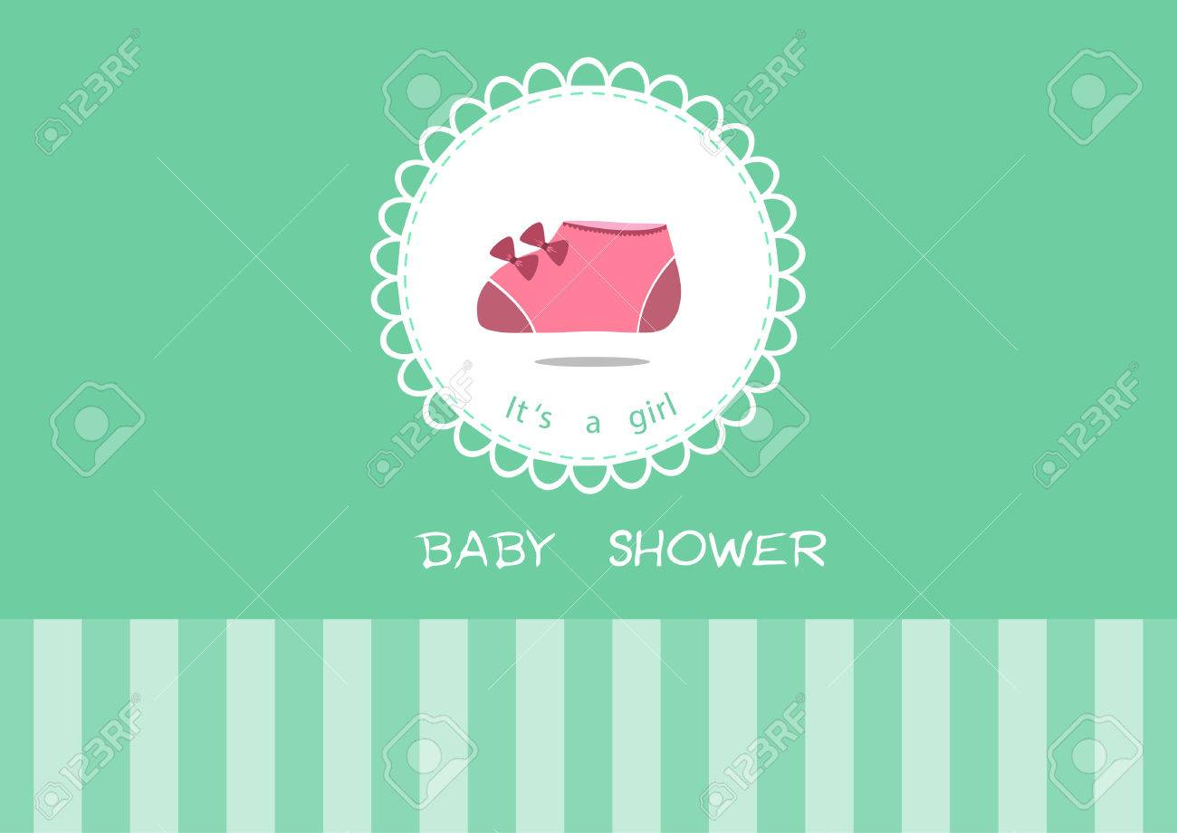 Cute baby shoes on greeting carddesign of baby shower cards cute baby shoes on greeting carddesign of baby shower cards stock vector 48477781 kristyandbryce Choice Image