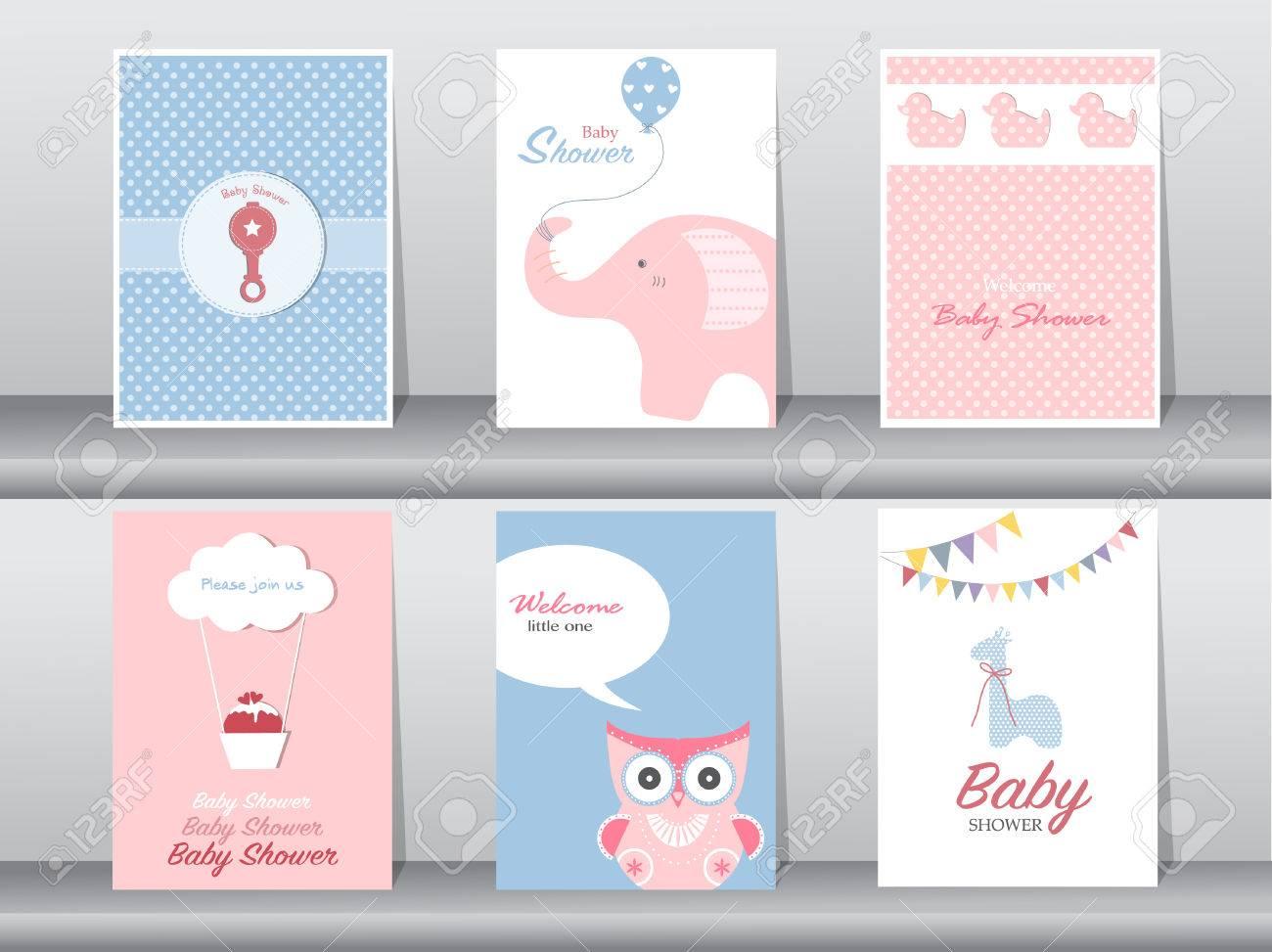 Set of greeting and invitation card,birthday, holiday, christmas, animal,cat,elephant,dog,bear,cartoon, vector illustration - 58917842