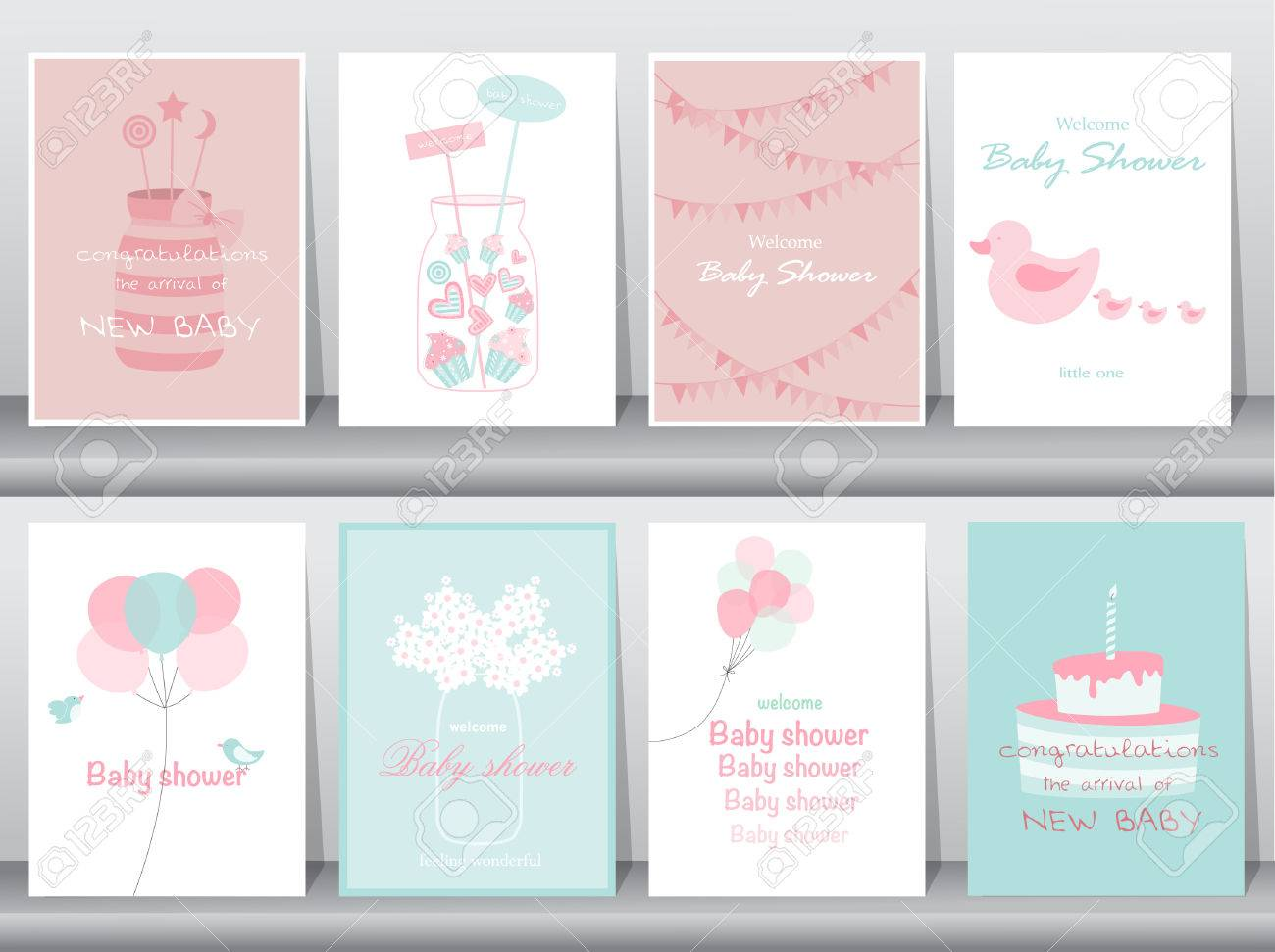 Set of baby shower invitations cardspostergreetingtemplatecakes set of baby shower invitations cardspostergreetingtemplatecakesbottle filmwisefo
