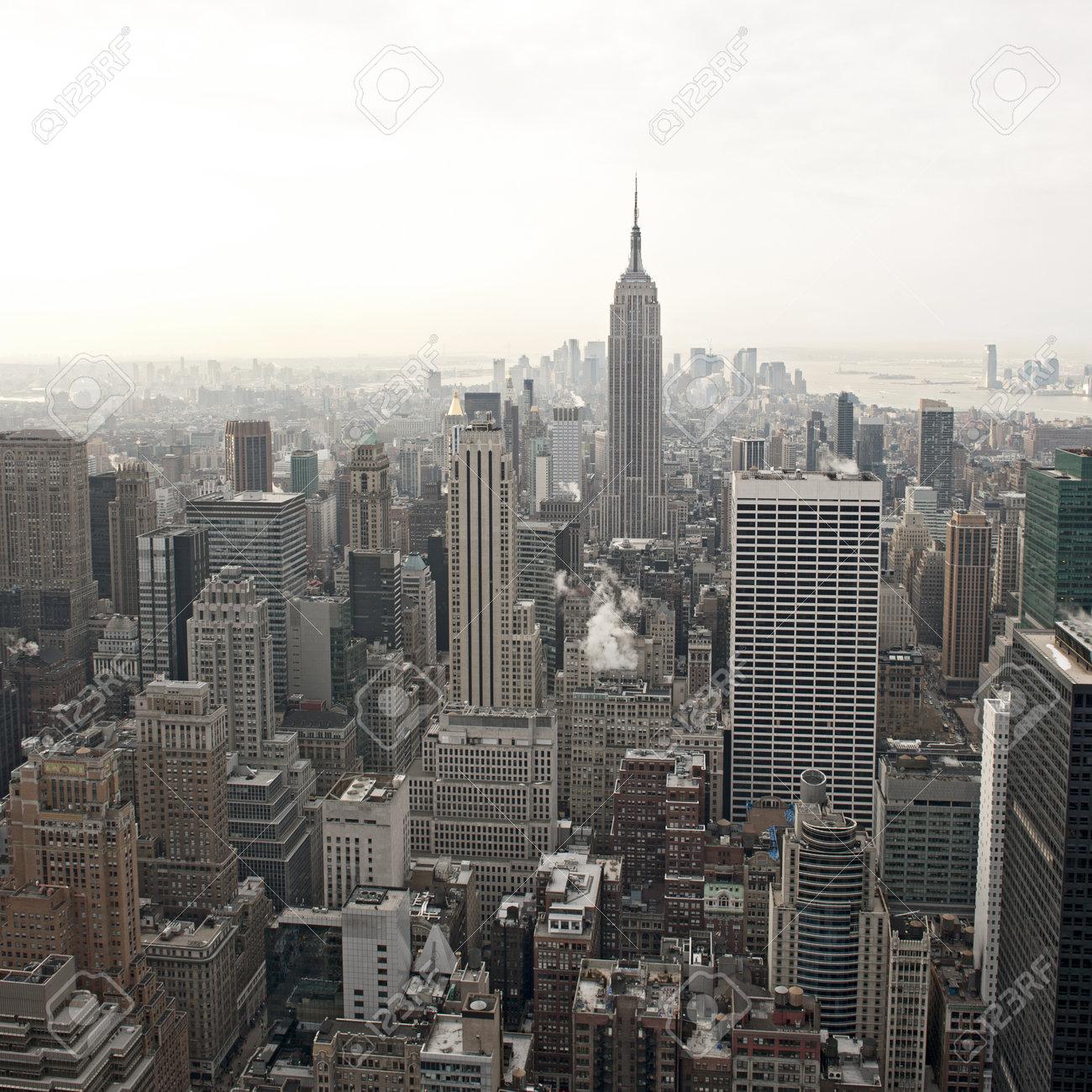 New York City Skyline View From Rockefeller Center New York