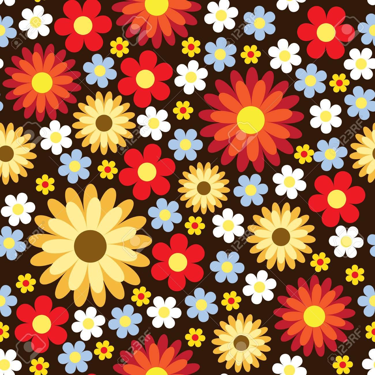 Seamless pattern with pretty flowers on dark background royalty free seamless pattern with pretty flowers on dark background stock vector 28403580 mightylinksfo