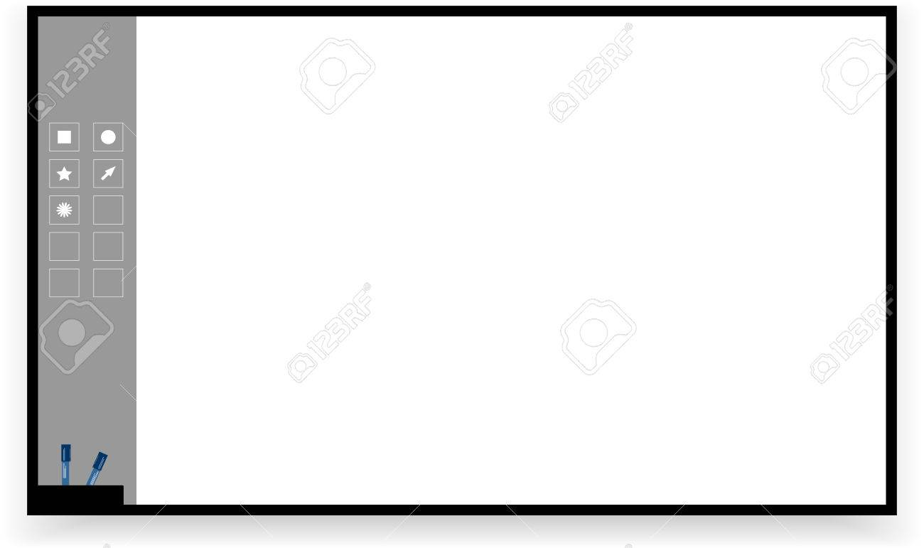 Vector interactive board isolated on white background - 28979460