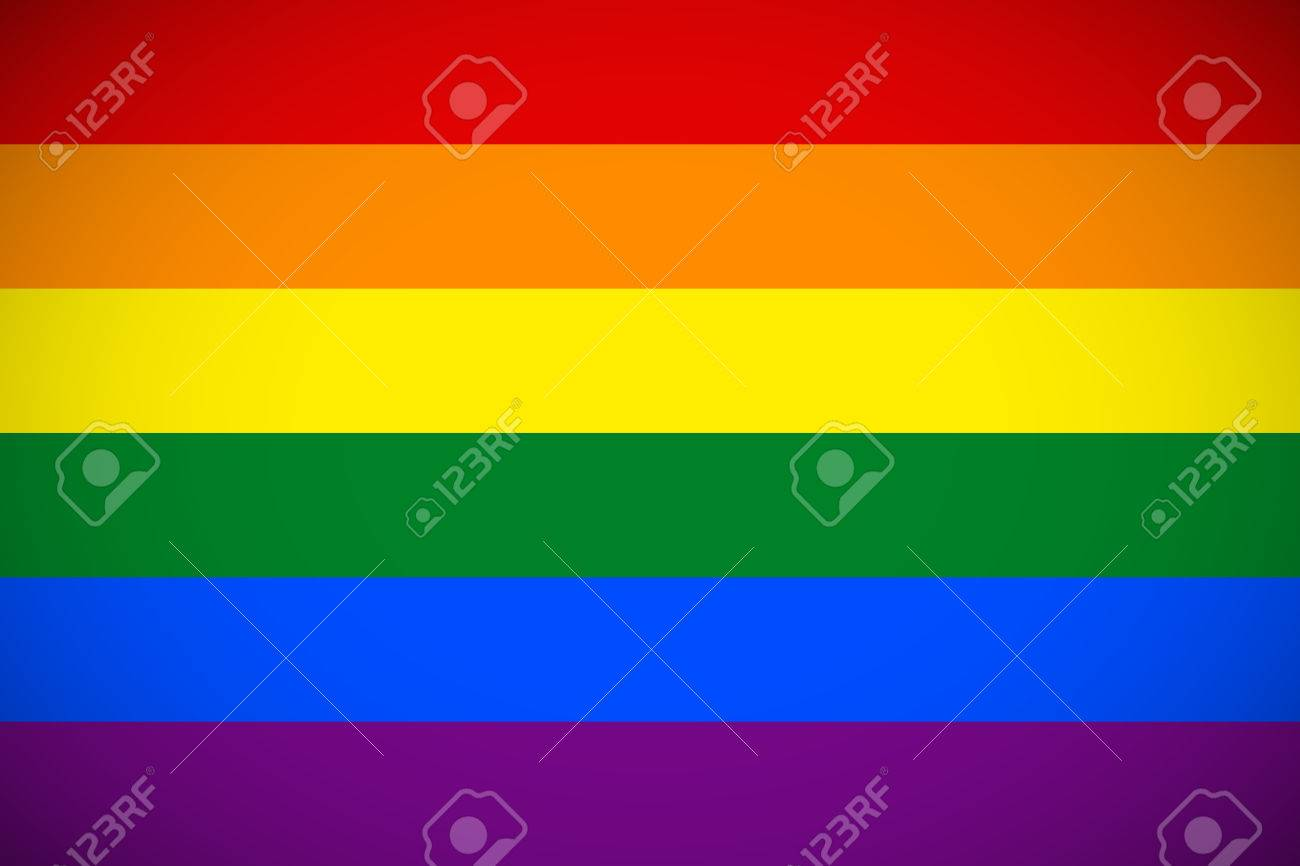 Drapeau De La Communauté LGBT Avec Le Schéma De Couleur Correcte
