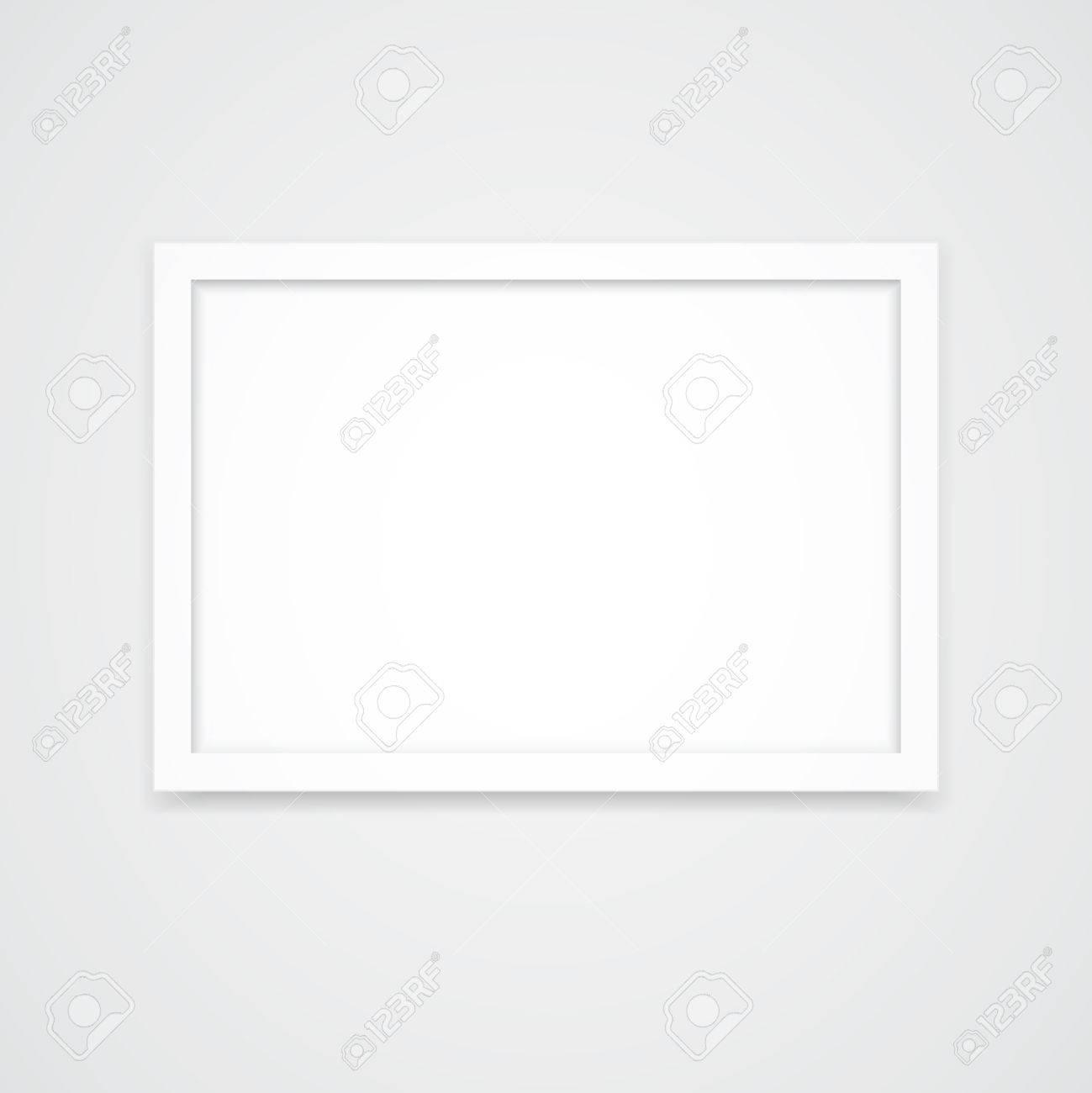 Weiß Bilderrahmen Mit Querformat (3x2) Isoliert Auf Weißem ...