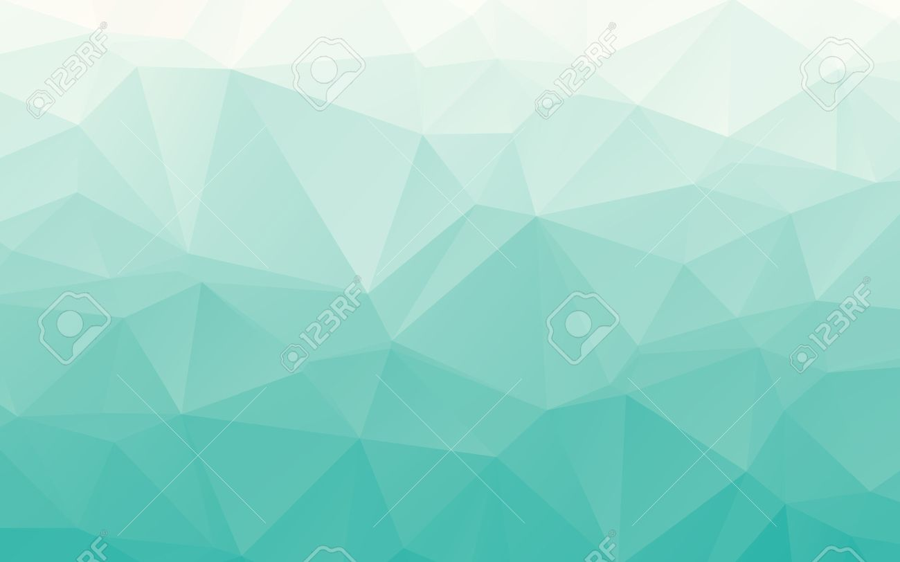 Stylish Gradient Tender Turquoise Polygonal Abstract Wallpaper