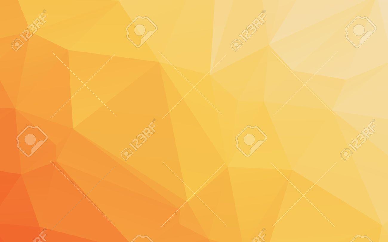 グラデーション暖かいオレンジ黄色多角形抽象的なベクトルの壁紙の