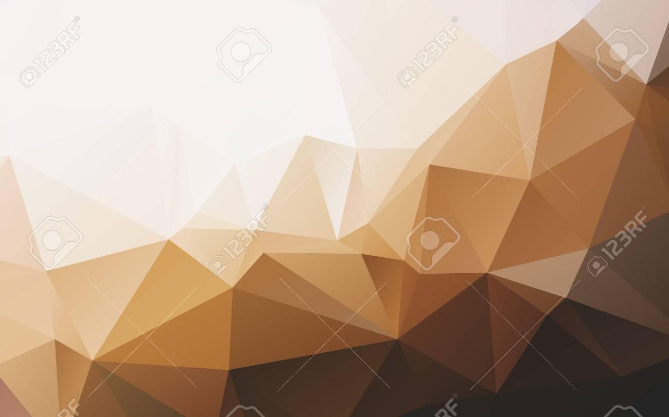 スタイリッシュな暖かい色ベクトル抽象の低ポリ多角形壁紙のイラスト