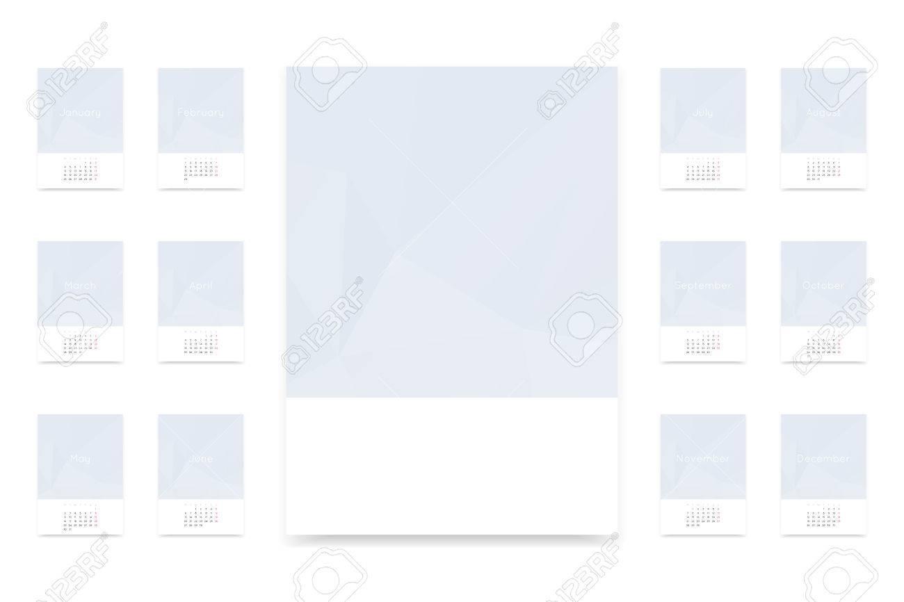 2016 Kalenderblätter Und Leere Vektor-Vorlage A3 Papierformat ...
