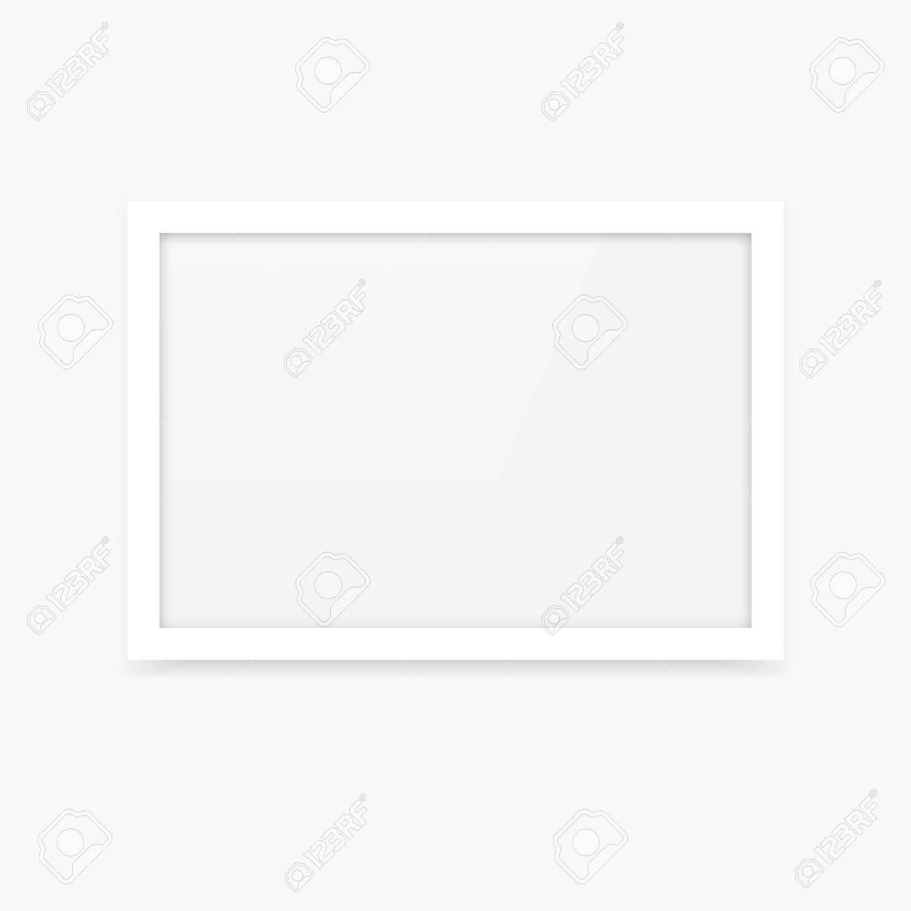 Einfache Saubere Weiße Vektor Leere Bilderrahmen Mockup Mit ...