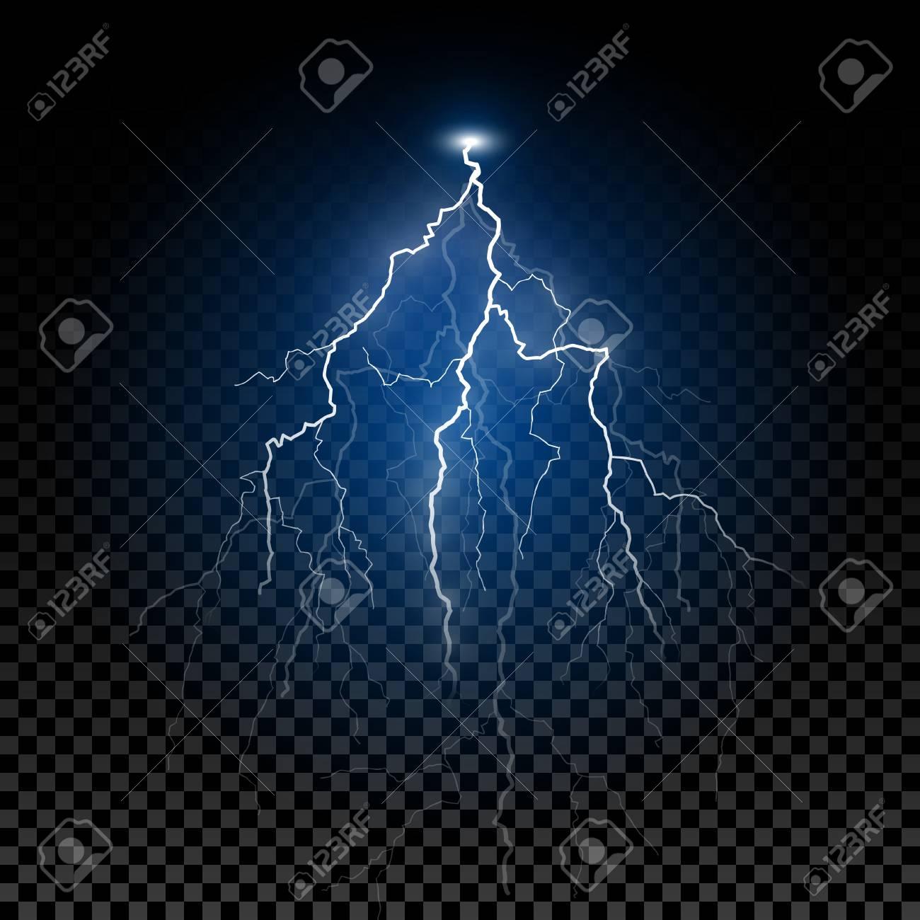 Shiny Realistic Vector Lightning Thunderstorm Flash Lightning Royalty Free Cliparts Vectors And Stock Illustration Image 111636351
