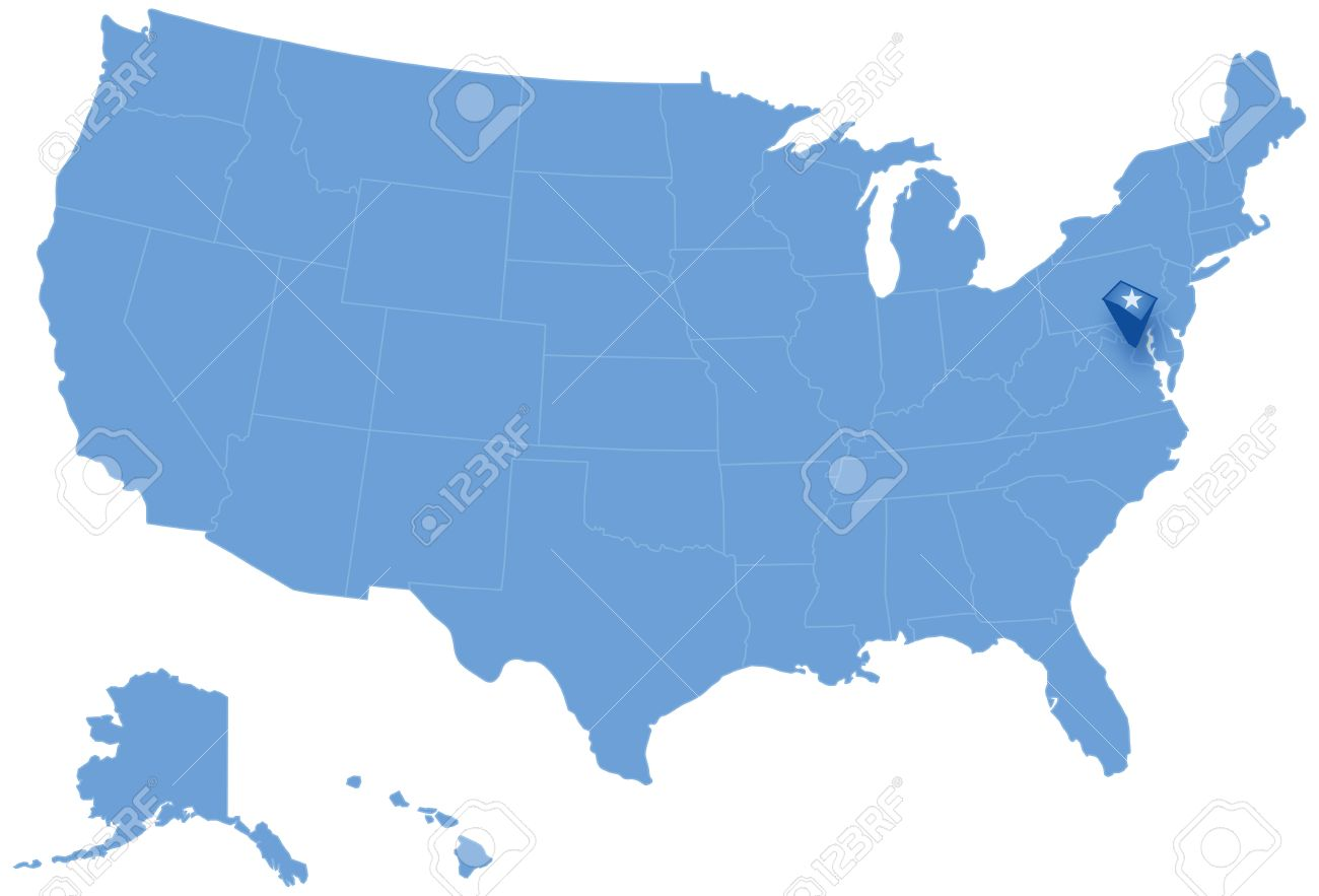 Political Map Of United States With All States Where Federal