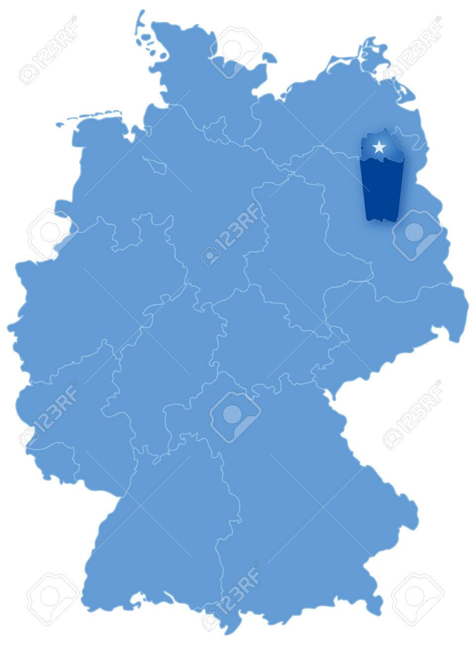 political map of germany with all states where berlin is pulled out stock vector 24896522