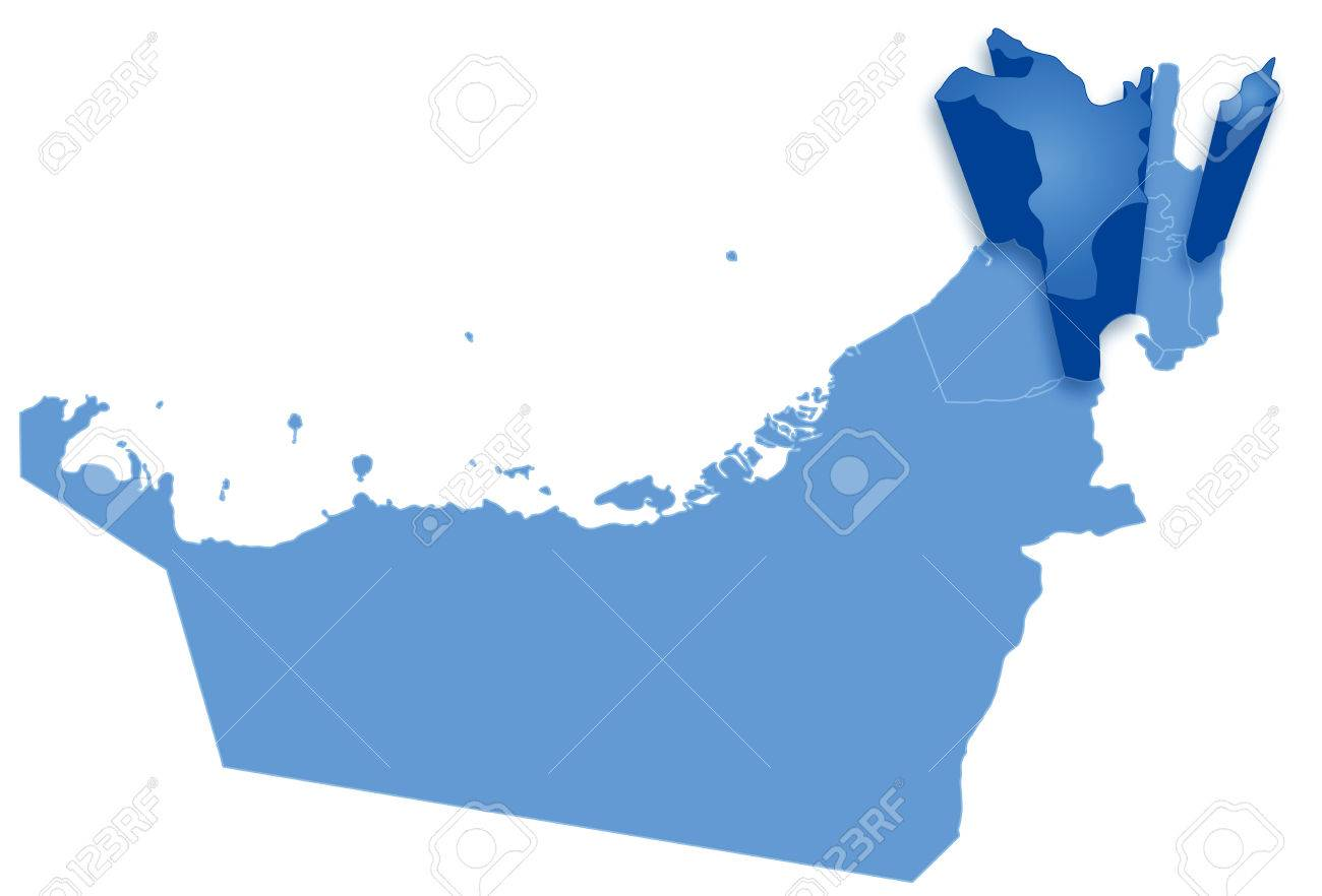 Political Map Of United Arab Emirates With All Emirates Where