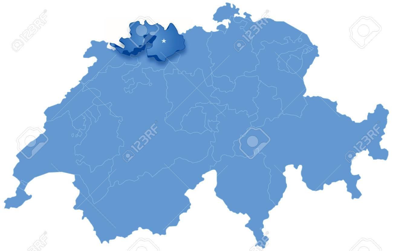 Mapa Politico De Suiza.Mapa Politico De Suiza Con Todos Los Cantones De Basilea Donde Landschaft Se Saca