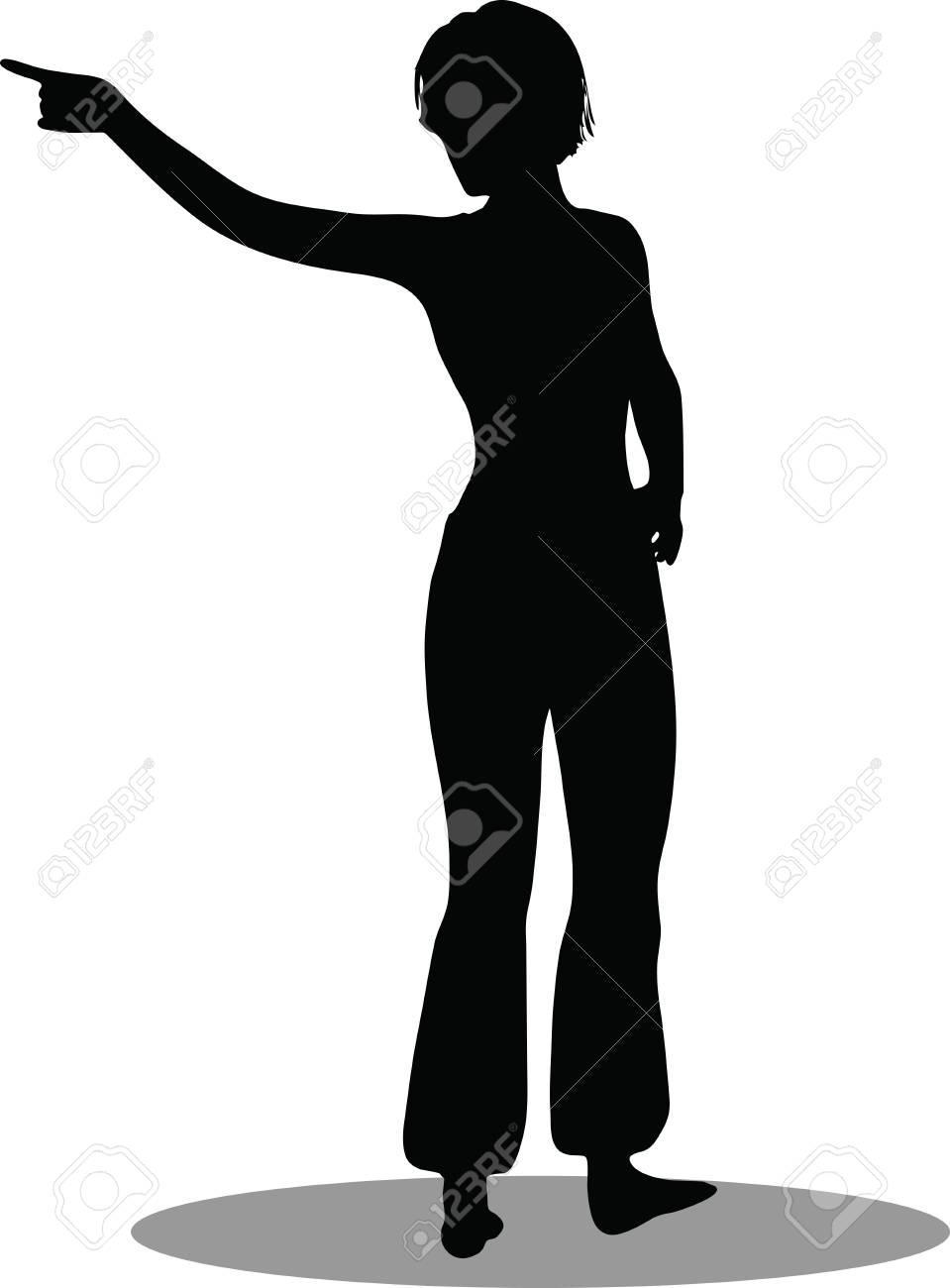 EPS 10 Vector Illustration of dancer woman silhouette Stock Vector - 27172687