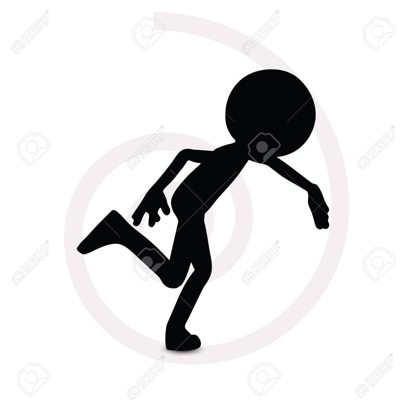 3d man in running pose Stock Vector - 29984234