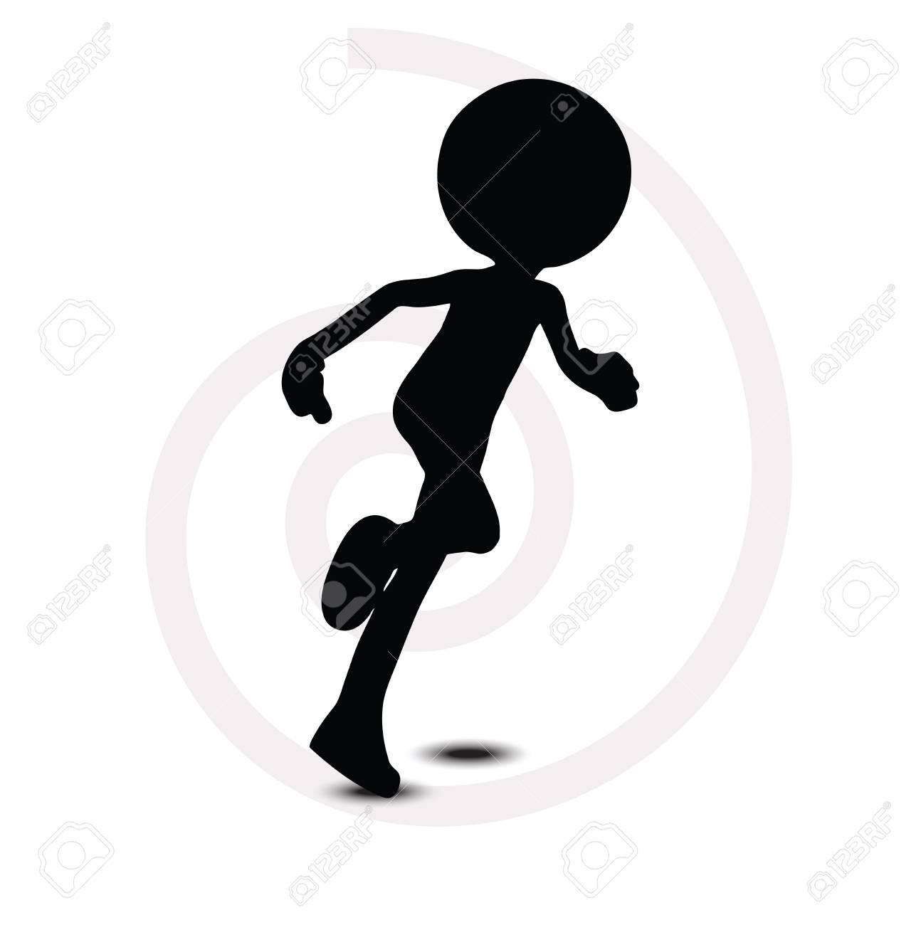 3d man in running pose Stock Vector - 29985069