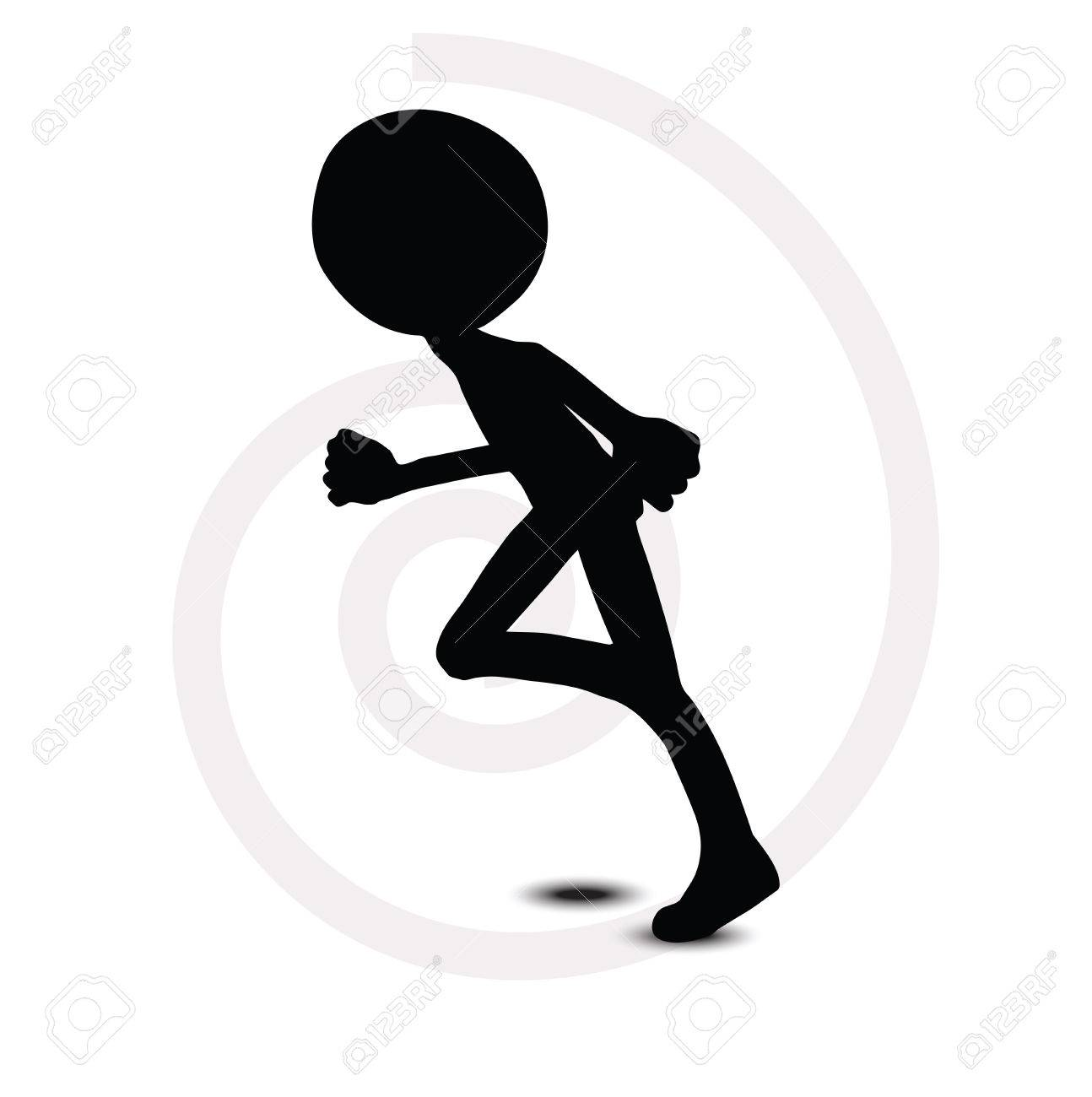 3d man in running pose Stock Vector - 29985080