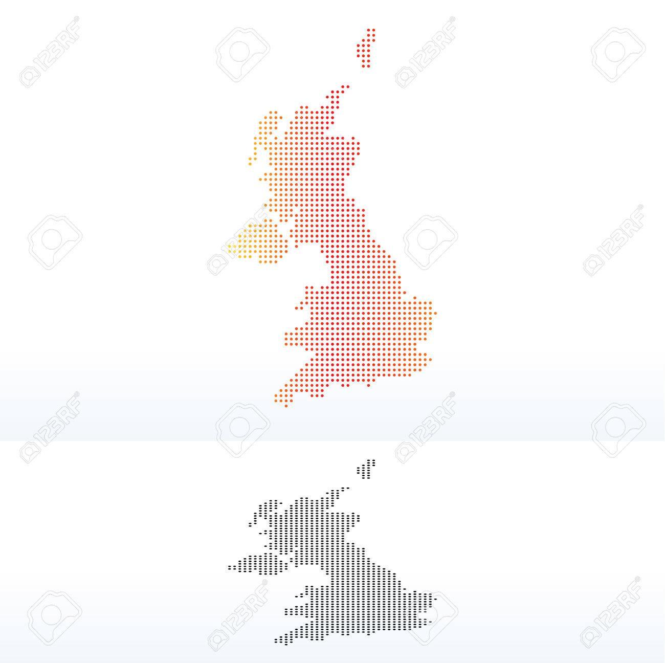 Imagen Vectorial - Mapa De Reino Unido De Gran Bretaña E Irlanda Del ...