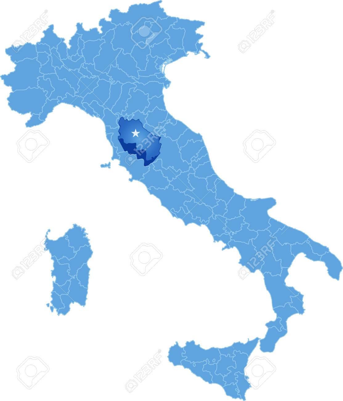 Cartina Italia Siena.Vettoriale Mappa D Italia Dove Provincia Di Siena E Tirato Fuori Isolato Su Sfondo Bianco Image 44929901