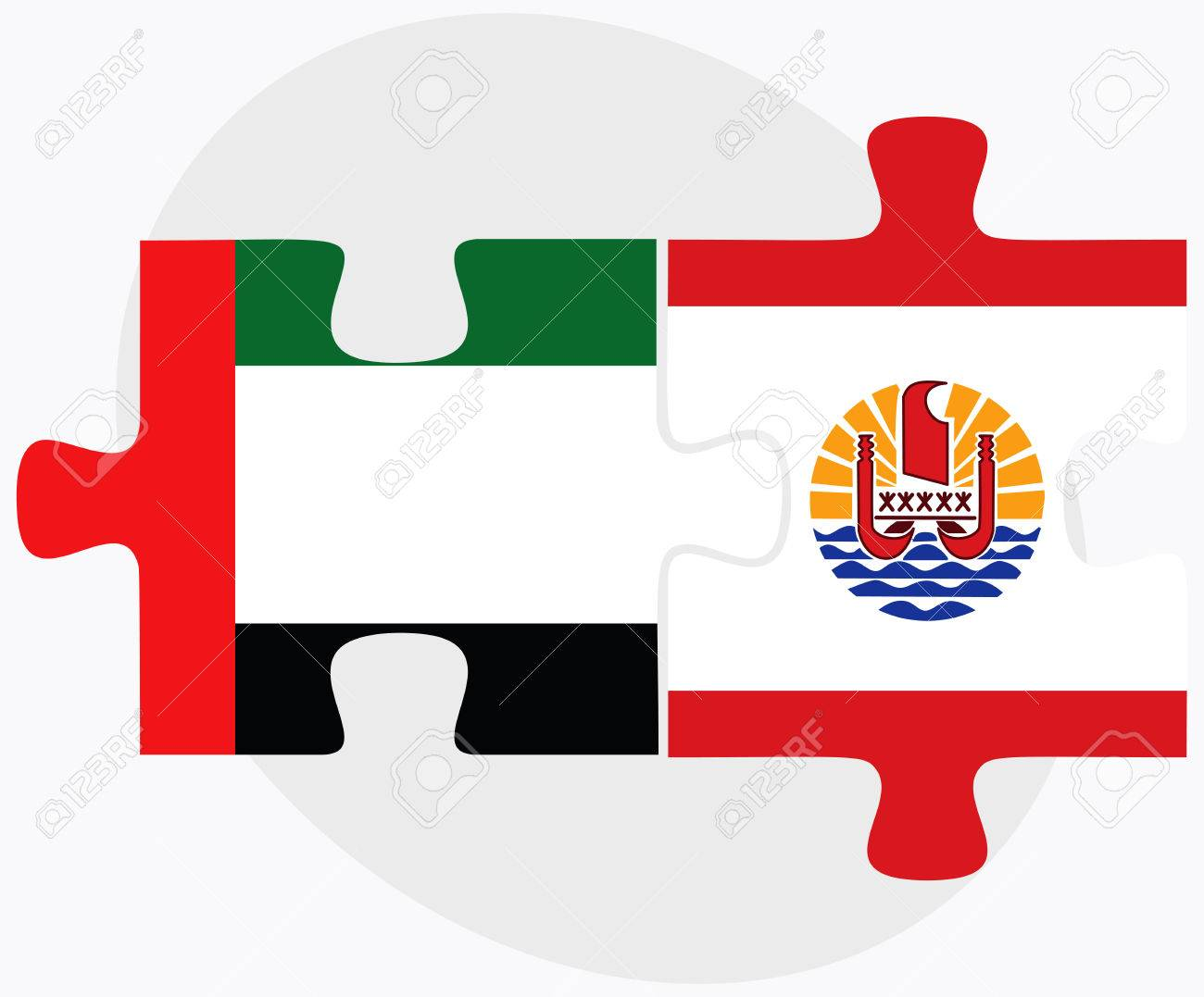 United Arab Emirates And French Polynesia Flags In Puzzle Isolated Royalty Free Cliparts Vectors And Stock Illustration Image 47587682