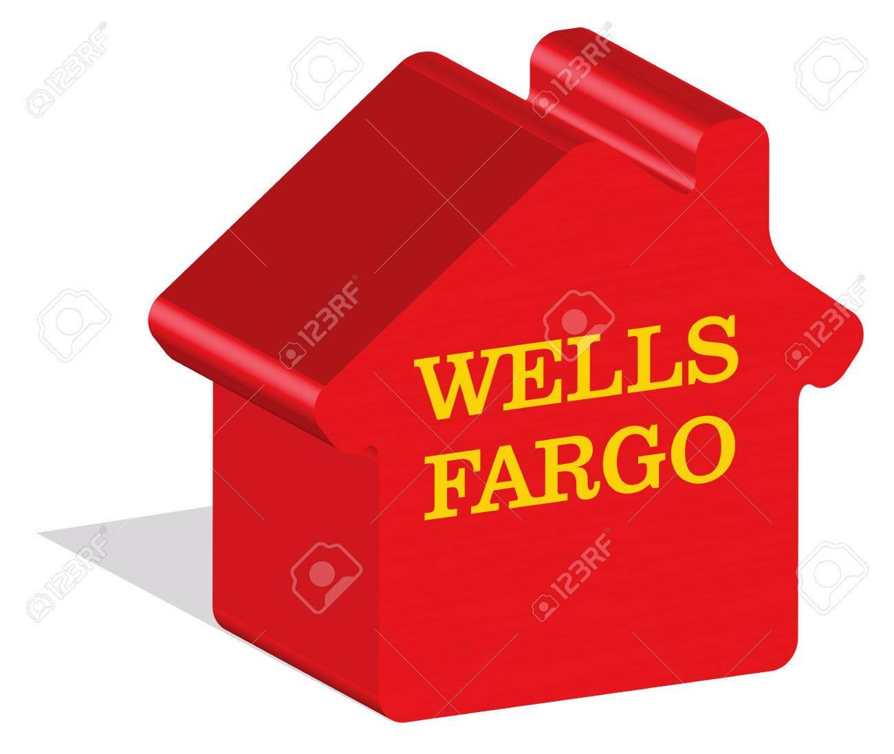 Istanbul Turkey Feb 15 2017 Wells Fargo Logotype In 3d Form