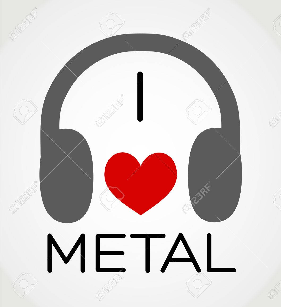 Metal music background - Vector Abstract Background I Love The Metal Music