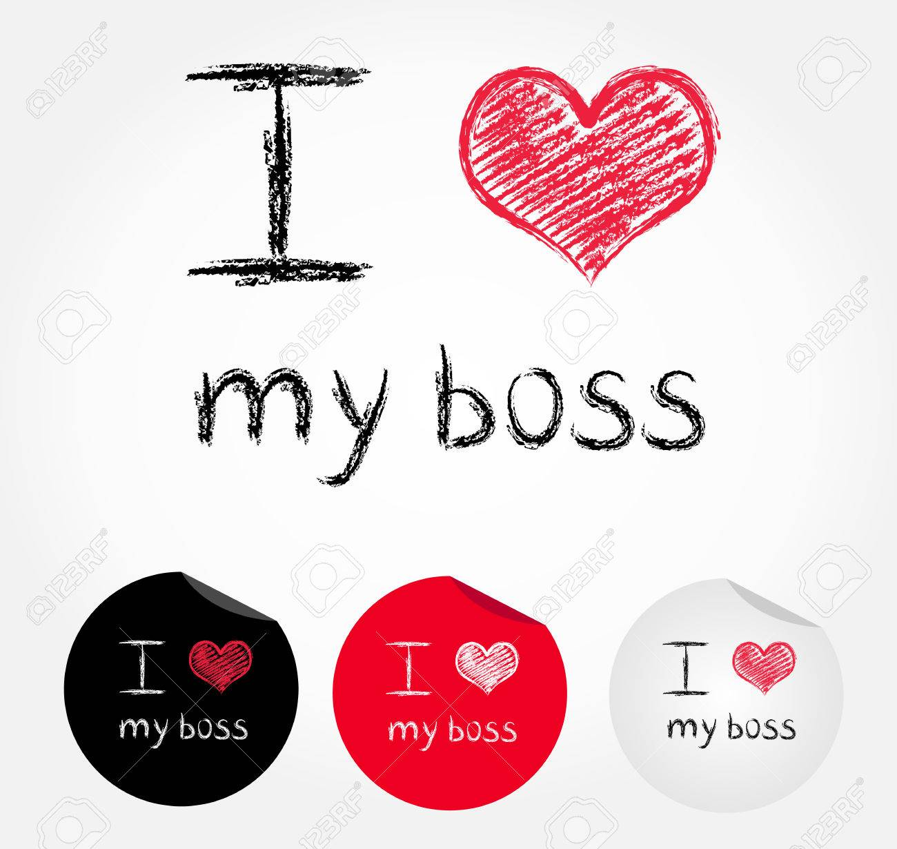I Love My Boss Stock Vector