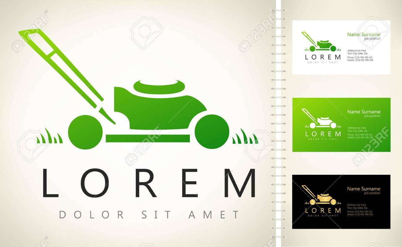 493ebc2b14 lawn mower logo vector Stock Vector - 67664459