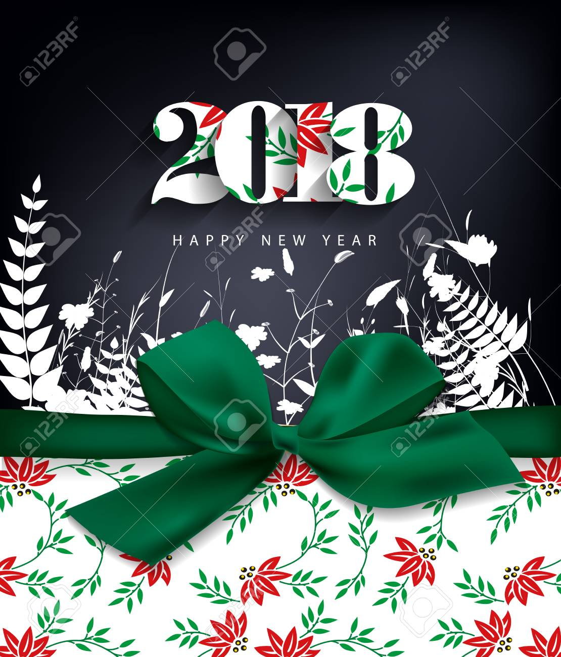 Happy new year 2018 greeting card and merry christmas royalty free happy new year 2018 greeting card and merry christmas stock vector 87858676 kristyandbryce Choice Image