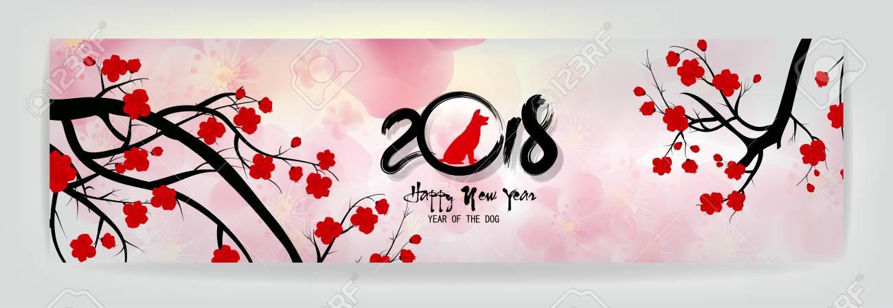 Assez Définir Des Bannières Bonne Année 2018 Carte De Voeux Et Nouvel An  AK94