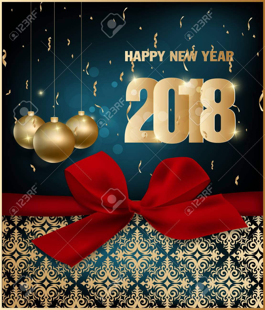 Happy new year 2018 greeting card and merry christmas royalty free happy new year 2018 greeting card and merry christmas stock vector 87833247 m4hsunfo
