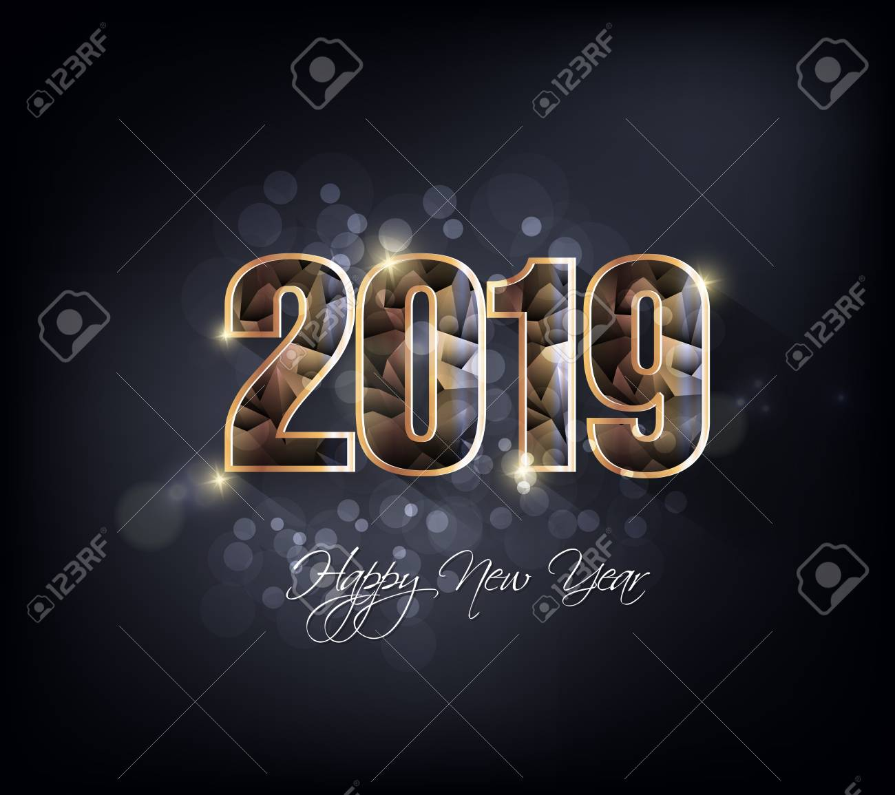 Happy new year 2019. Chinese new year. Year of the pig - 105343088