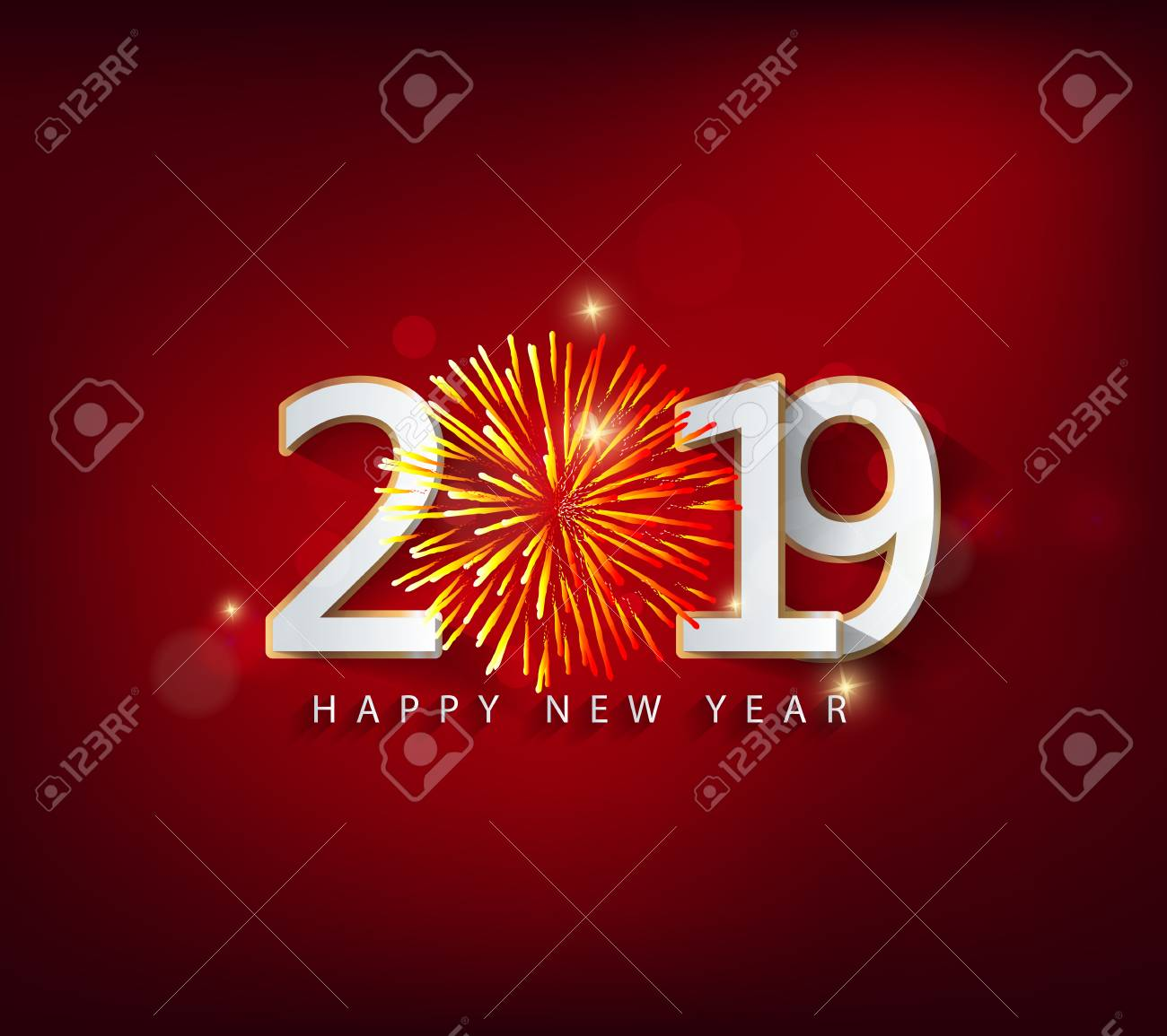Happy new year 2019. Chinese new year. Year of the pig - 105340227