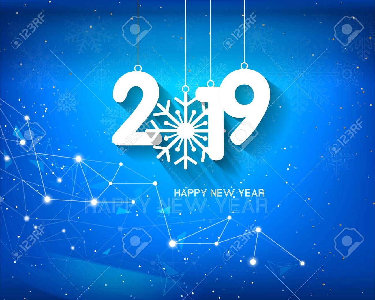 Happy new year 2019 and Merry Christmas - 117118569